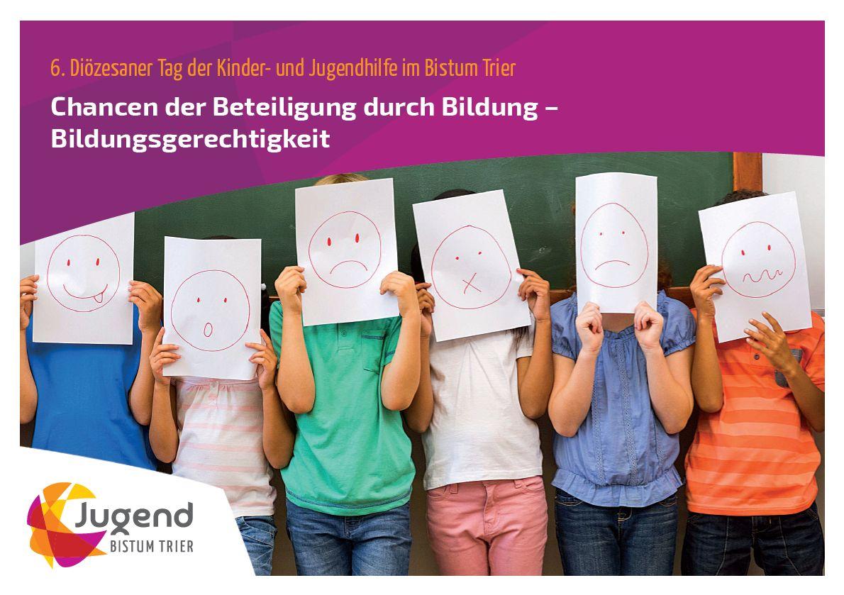 Titelmotiv Flyer 6. Diözesanen Tag der Kinder- und Jugendhilfe im Bistum Trier